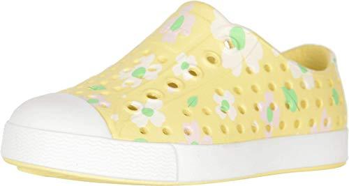 Native Kids Shoes Girl's Jefferson Print (Toddler/Little Kid) Gone Bananas Yellow/Shell White/Daisy 7 Toddler