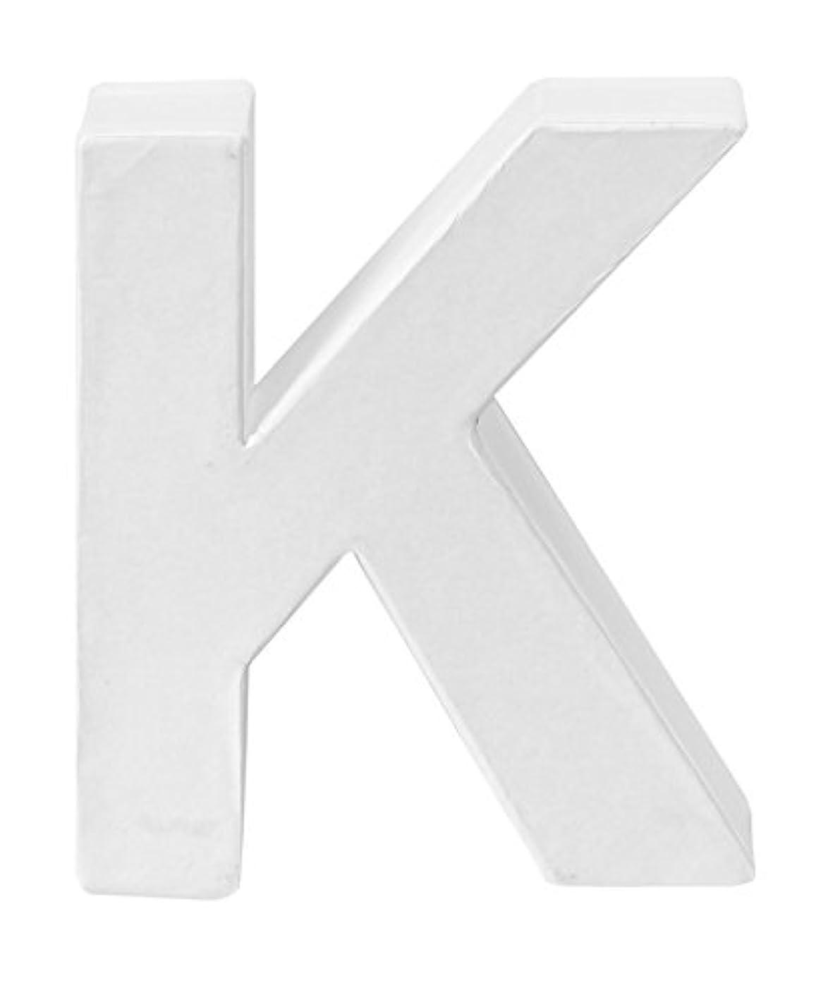 Glorex Cardboard Letter K FSC Mix, 10?x 8?x 3.5?cm White