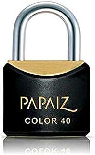 Cadeado Color Line, Papaiz, CR25, Preto