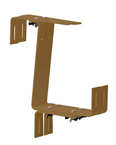 Windhager Blumenkasten-Halter für Brüstungen und Balkongeländer, Stabil, Tragkraft 45 kg, 22 x 17 cm, Terracotta, 05829
