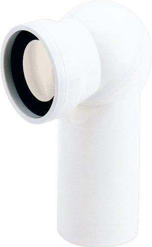 Anschlussrohr für Stand WC | Weiß | 400 mm | Mit Kugelgelenk | WC, Toilette