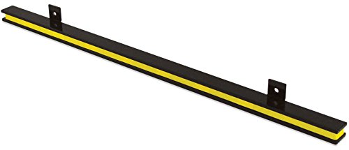 "Master Magnetics 24"" Heavy-Duty Magnetic Tool Holder, Easy-Install, 20-lb per inch Pull Force, Black Powder Coat with Yellow Stripe (AM1PLC)"