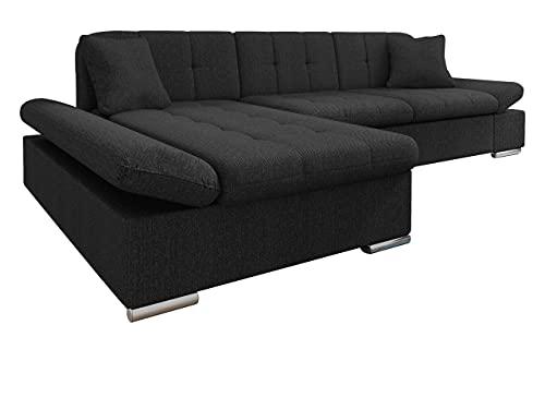 Mirjan24 Ecksofa Malwi mit Regulierbare Armlehnen Design Eckcouch mit Schlaffunktion und Bettkasten, L-Form Sofa vom Hersteller, Couch Wohnlandschaft (Boss 14, Ecksofa: Links)