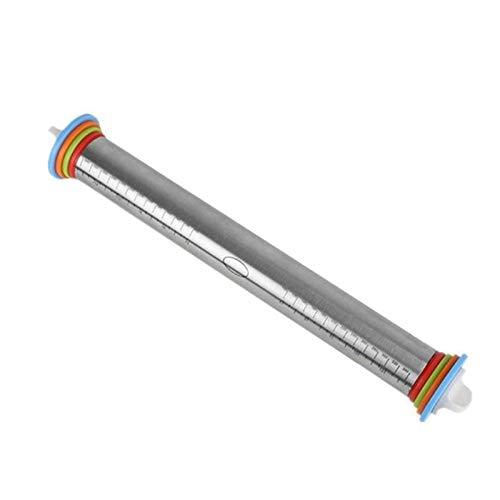 WUCHENG 1 PCS 4 Discos Ajustables Acero Inoxidable Pin Rolling Pin Antideslizante Anillos extraíbles Herramientas de hornada de Masa Cocina Home Cuchillo Pegatinas Rodillo (Color : A)