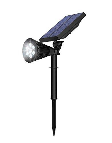 ソーラーライト Vorally 明るい 6LED 人感センサーライト IP65防水 2モード点灯 ガーデンライト 夜間自動点灯 玄関先/庭/車道/歩道/芝生/ガーデンなどの照明・防犯・災害対策 (白光1pack)
