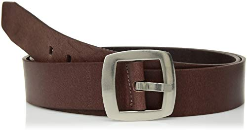Calvin Klein Women's Vintage Leather Belt, Brown, Large