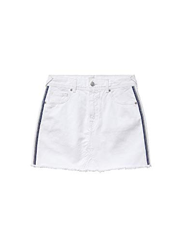Pepe Jeans Dani Bling Falda, Blanco (Denim 000), X-Large para Mujer