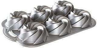 Nordic Ware Heritage Bundtlette Cake Pan, Metallic, Silver