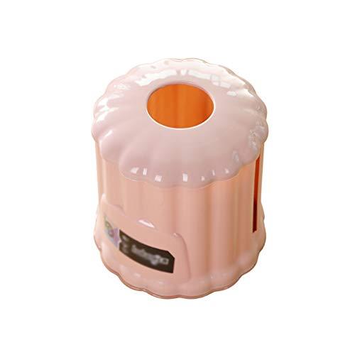 Boîte à mouchoirs en plastique moderne jetable pour salle de bain, comptoirs, décoration de commode de chambre à coucher (couleur : rose)