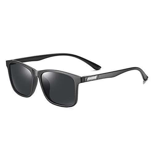DovSnnx Unisex Polarizadas Gafas De Sol 100% Protección UV400 Sunglasses para Hombre Y Mujer Gafas De Aviador Gafas De Ciclismo Ultraligero Montura Negra Y Lentes Grises