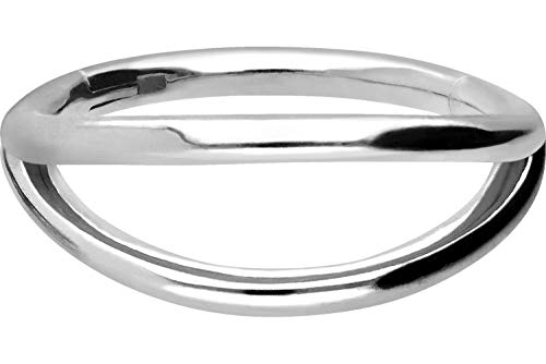PIERCINGLINE Chirurgenstahl Segmentring Clicker | 2 Ringe | Piercing Ring Nase Septum Ohr Helix | Farb & Größenauswahl