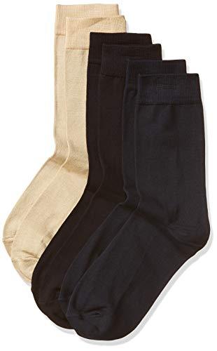 Van Heusen Men's Cotton Calf Socks (Pack of 3) (91001_Assorted_One Size)