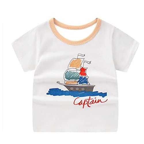 AtheMeet Kleinkind T-Shirt-Kind-druckt Kurzarm T-Shirt Top-Baby-Mädchen-Sommer-Baumwoll Outfit