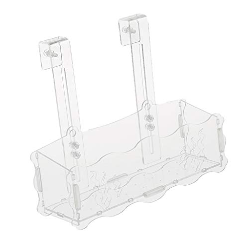 perfk Acryl Wasserpflanze Becher Tasse Topf mit Haken für Aquarium Aquascaping