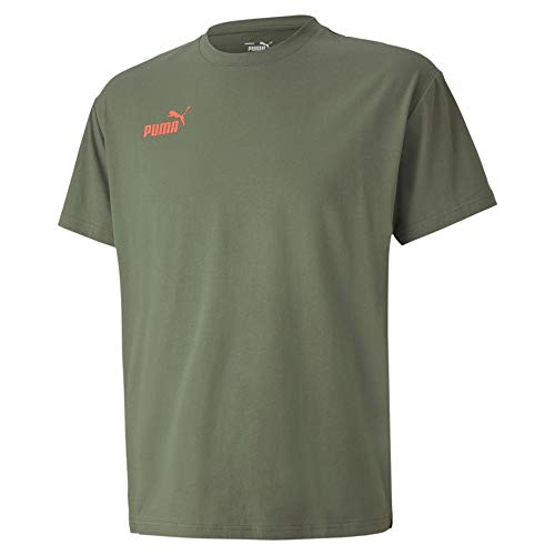 PUMA Herren ftblNXT Casuals Tee T-Shirt, Thyme-Fizzy Orange, L
