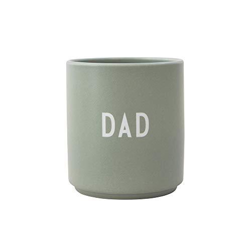 Design Letters Lieblingsbecher Grün DAD | Tasse Personalisiert | Personalisierte Geschenke für Papa | Becher mit Spruch | Kaffeebecher/Kaffeetassen in Porzellan mit Buchstaben