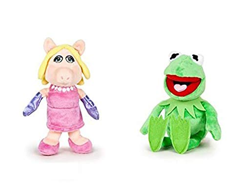 The Muppets (Los Teleñecos) - Pack 2 peluches Calidad super soft - Rana Gustavo 22cm + Cerdita Peggy 20cm