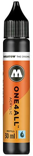 Molotow ONE4ALL Refill Acryl, Farbe 180 signal schwarz 30 ml, Nachfülltinte für Permanentmarker