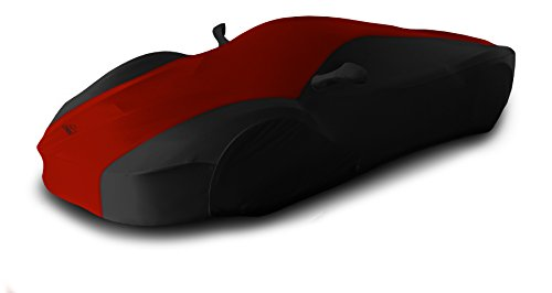 Coverking Custom Fit Car Cover for Select Ferrari 512 TR Models - Satin Stretch (Red with Black Sides)