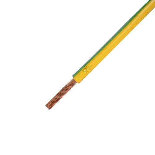 Verdrahtungsleitung H07V-K 4 mm² grün/gelb PVC-Einzelader feindrähtig, Cu-blank *Meterware* Preis pro Meter