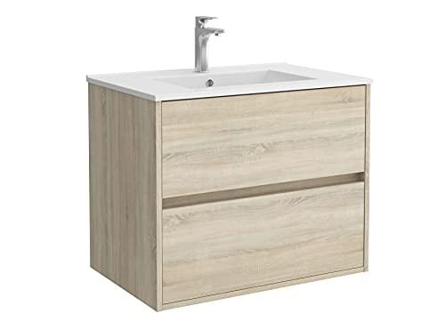 Salgar Noja Conjunto Mueble de baño, Tableros de partículas, Roble Caledonia, Extra Grande