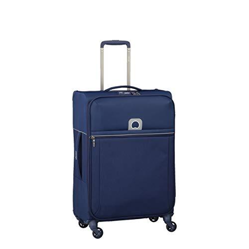 DELSEY(デルセー) ソフトスーツケース 機内持ち込み sサイズ 超軽量 大型 キャリーバッグ ソフトキャリーケース mサイズ/lサイズ 大容量 BROCHANT 5 69L&ブルー