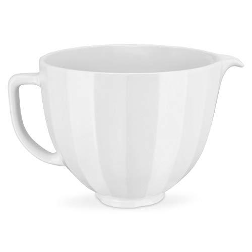 KitchenAid 5 Quart KSM2CB5PWS Ceramic Bowl White Shell