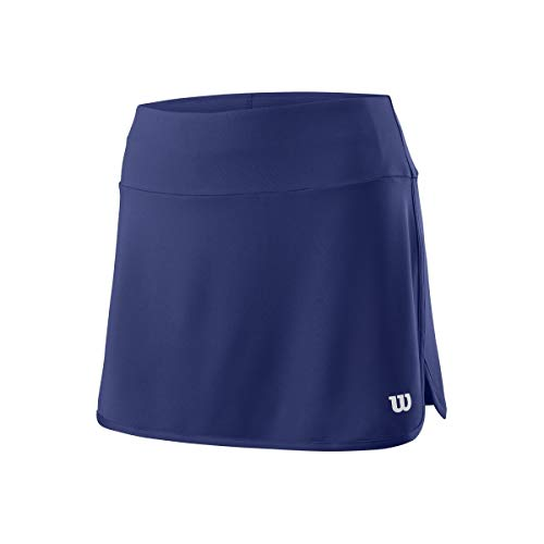 Wilson Damen Tennis-Rock, W Team 12.5'' Skirt, Polyester/Elasthan, Blau, Größe: L, WRA766203