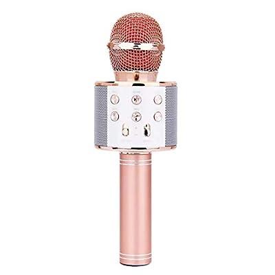 Shefii WS-858 Wireless Bluetooth Karãoke Condenser Microphone Speaker Player KTV Music