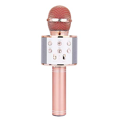 XIANSHI WS-858 Wireless Bluetooth Karaoke Wireless Karaoke Microphone for Girls Play Condenser Microphone Speaker Player KTV Music Fun