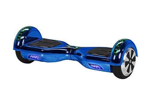 Robway W1 Hoverboard - Das Original - Samsung Marken Akku - Self Balance - 22 Farben - Bluetooth - 2 x 350 Watt Motoren - App - Led (Blau Chrom)