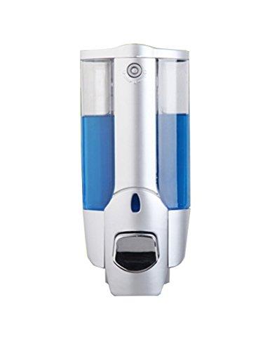Simwood 350ml Dosatore Distributore Dispenser di sapone in plastica ABS per Bagno Cucina Marketplace Hotel Restaurant Argento