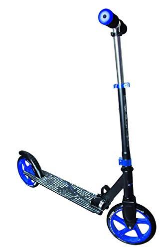 muuwmi Aluminium Scooter – Tretroller, 200 mm, ABEC 5, GS geprüft, höhenverstellbar, schwarz-blau