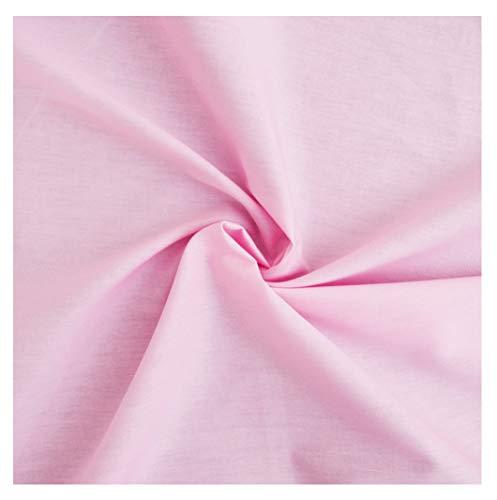 designers-factory Tessuto di Cotone al Metro - Disponibile in Diversi Colori - Stoffe di Cotone Tinta Unita – Stoffa al Metro 100% Cotone - Tessuto in Popeline per Cucire (1m x 1m46, Rosa)
