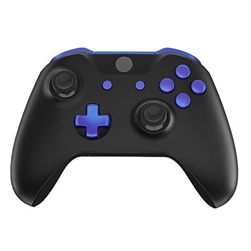 eXtremeRate Tasti Pulsanti Ricambio per Xbox One S X Controller Joystick(Model 1708) Trigger LB RB LT RT Bumper Grilletti D-pad Pulsante Start Back Sync con Cacciaviti-Camaleonte Viola Blu