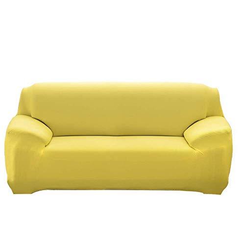 Sofabezug, ausziehbarer Sofabezug mit Armlehnen Bequemer Sofabezug für Wohnzimmer Schlafzimmer (Yellow Glamour, 1 Sitzer/Stuhl)