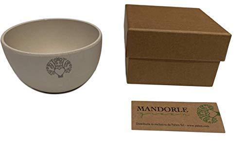 Mandorle Green 6 stuks milieuvriendelijke snoepjes van bamboevezel Eco Friendly met gift Box oud. 6 x 9,5 cm.