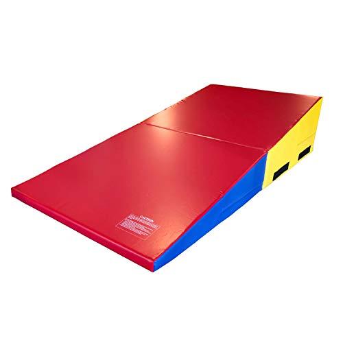 Incstores cuña Forma Gimnasia Alfombrilla de inclinación Ideal para Tumbling, práctica y Ejercicio, Arcoiris (Rainbow)