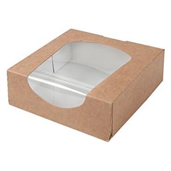 BIOZOYG Caja para pastelería Color marrón 600ml I Embalaje ...