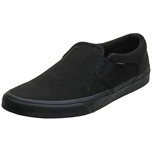 Vans - M Asher, Sneakers da uomo, Nero (canvas Black Black), 42