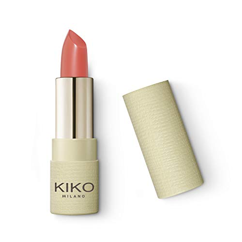 KIKO Milano Green Me Matte Lipstick 100, Komfort-Lippenstift mit mattem Finishy, 100 universal nude