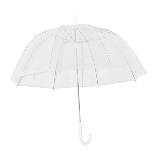 Deendeng Fashion Transparenter Regenschirm, kuppelförmig, winddicht