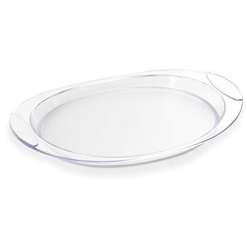 Omada Design Tablett von 52 cm x 35,5 cm mit farbigem kratzfestem Innenraum, ideal für 6 Kaffeetassen oder für Aperitifs und Catering, waschbar mit DISHWASHER, Happy Drink Linie Trasparent