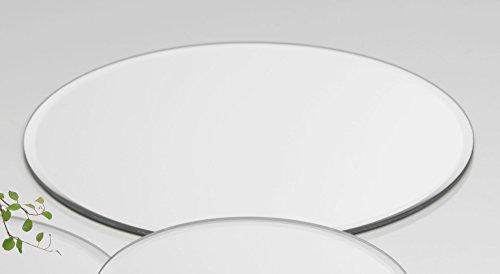 Sandra Rich Glasplatte Spiegelplatte Mirror 12 Stück Rund 0,5 cm Ø 30 cm