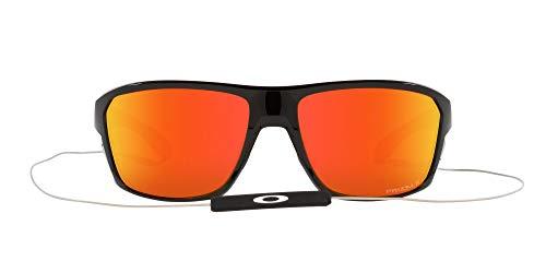 OO9416 Split Shot Sunglasses, Polished Black/Prizm Ruby Polarized, 64mm