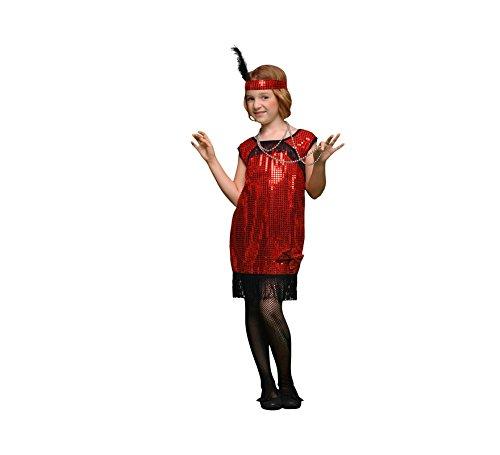 Disfraz de Charlestón rojo en varias tallas para niña