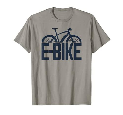 E-Bike Bici Fitness da Uomo con Bicicletta Elettrica Veloce Maglietta