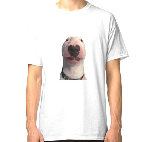 Lu Bu Store Walter Dog Meme Sticker T-Shirts (White, M)