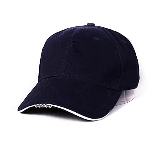 Liadance Gorra de béisbol del Sombrero de algodón LED Linterna Manos Libres se Divierte el Casquillo del Faro Camping