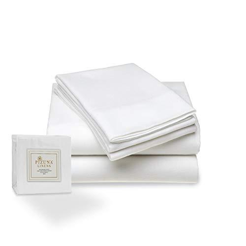 400 Hilos Juego de sábanas de algodón 150 x 200, 3 Piezas, 100% algodón de Fibra Larga y satén, Transpirable, el Juego de Cama Incluye: 1 sábana Plana + 1 sábana Ajustable + 2 Fundas de Almohada